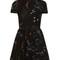Astrocouture round-neck crepe mini dress