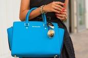 viva luxury,bag,sunglasses,shoes,nail polish,jewels,michael kors,light blue