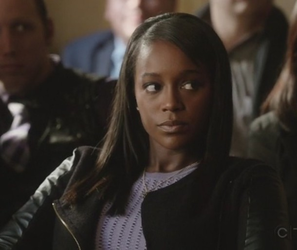 jacket leather Aja Naomi King how to get away with murder Michaela Pratt sweater