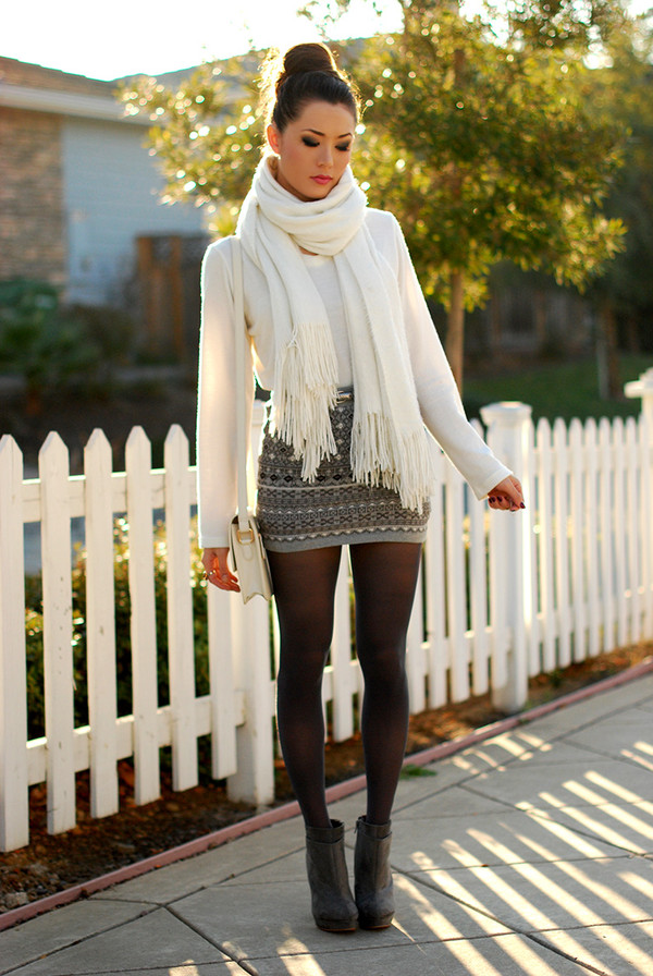hapa time sweater jewels skirt scarf shoes bag