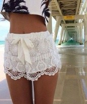 shorts,lace,ivory,ribbon tie,top,shoes,white,white lace,lace shorts,crochet,festival,tassel