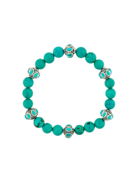 Monan beaded bracelet women beaded silver blue turquoise jewels