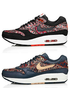 best service 39df9 f8da9 Nike Wmns Air Max 1 Lib QS Liberty London Red 540855 006 Nav