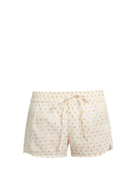 shorts cotton cream