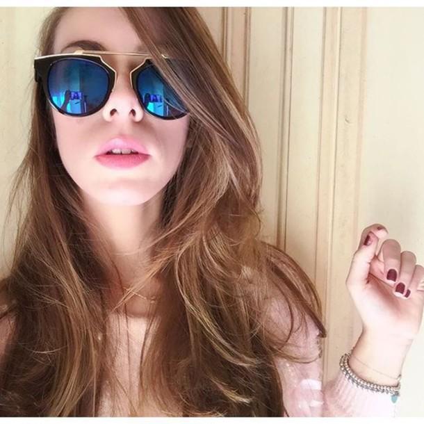 sunglasses bikini luxe blue blue mirrored mirrored sunglasses gold black  black frame black frame sunglasses black e24a5482850
