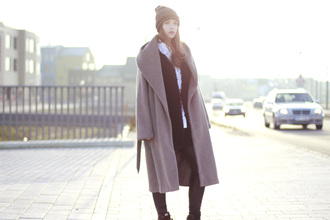 gold schnee blogger winter coat long coat