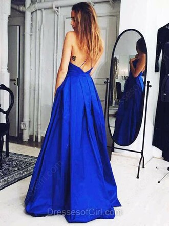dress sweep train elastic woven v neck prom dress