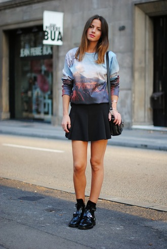 fashion vibe sweater shoes bag skirt
