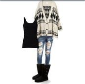 sweater,cardigan,jeans,tank top,boots,fall outfits,winter outfits,october,november,december