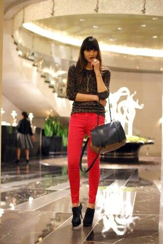 red pants natalie off duty pants