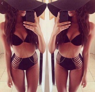 swimwear black black swimwear bikini black bikini bikini bottoms black bikini bottoms string bikini strappy bikini