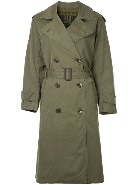 Hysteric Glamour coat double breasted women cotton green