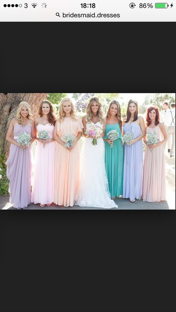 dress ilac bridesmaid