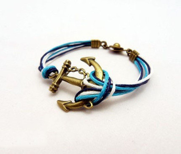 jewels bracelet blue retro