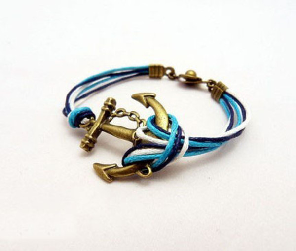 jewels bracelets blue retro