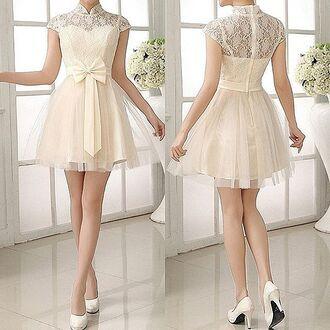 dress white dress fashion girly dress style summer dress