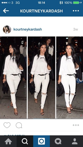 kourtney kardashian yeezus white sweater