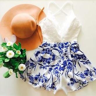 romper festival boho boho chic lace dress hat