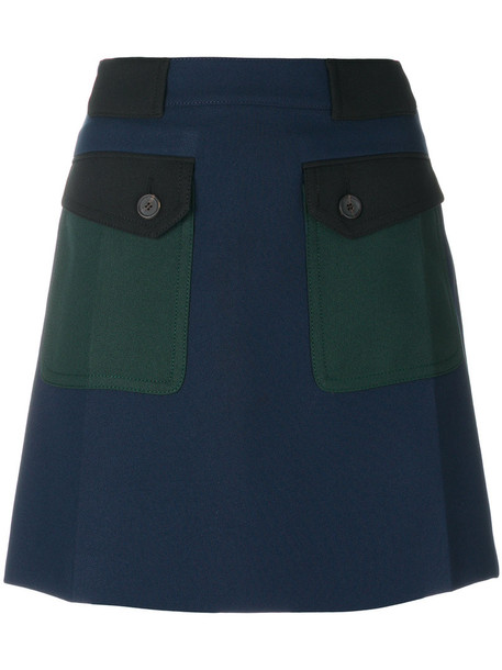 Prada skirt mini skirt mini women blue
