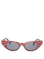 tiger,sunglasses,print,black,red