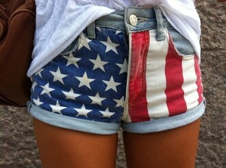 shorts american flag red white and blue american flag shorts