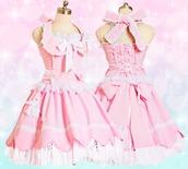 dress,pink,cute,frilly,lolita,kawaii,desu