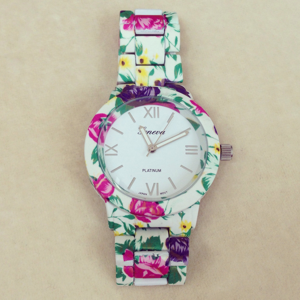 Beautiful Flower Metal Watch – shopebbo