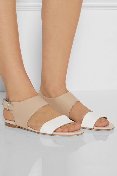 Acne Studios | Lottie two-tone leather sandals | NET-A-PORTER.COM