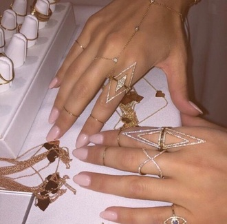 jewels bracelets pretty beautiful love nails pink purple ring jewelry knuckle ring gold ring bling