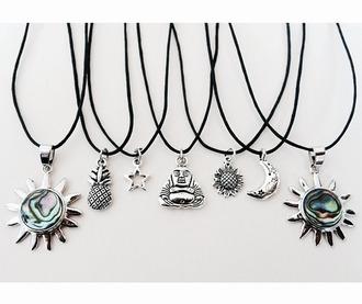 jewels neckless bouda pinapple moon stars