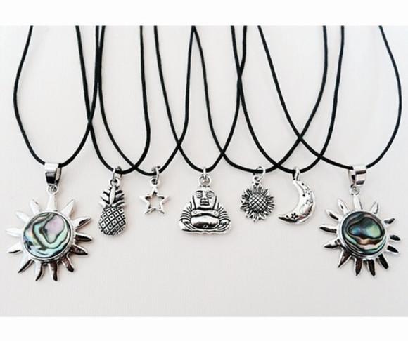 moon jewels stars neckless bouda pinapple