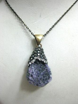 jewels jewelry boho jewelry frantic jewelry necklace raw amethyst amethyst drusy chic