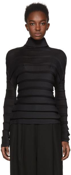 Issey Miyake turtleneck black sweater