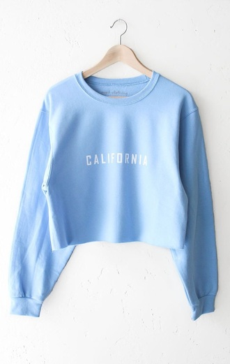 shirt baby blue cropped sweater