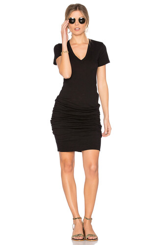 dress v neck dress v neck black