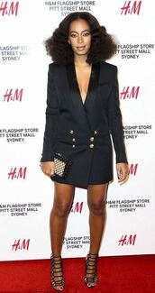 shoes,sandals,solange knowles,blazer dress,blazer