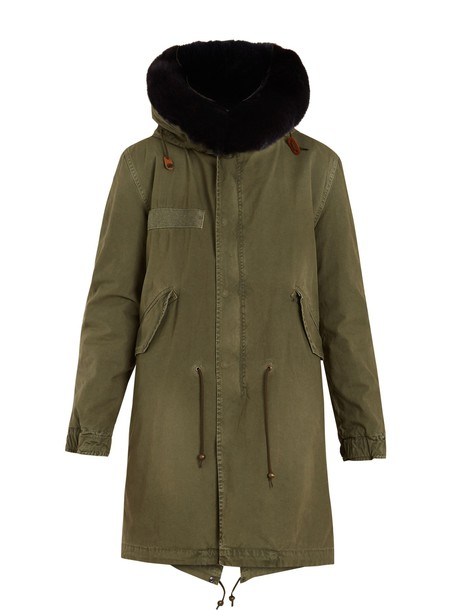 parka fur cotton khaki coat