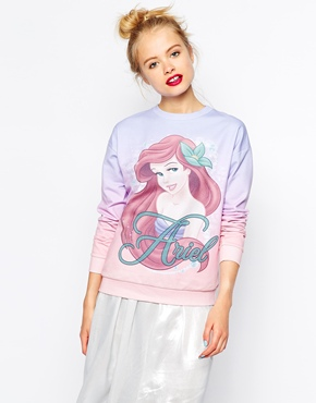 ASOS | ASOS Sweatshirt with Disney Little Mermaid Ariel Print at ASOS