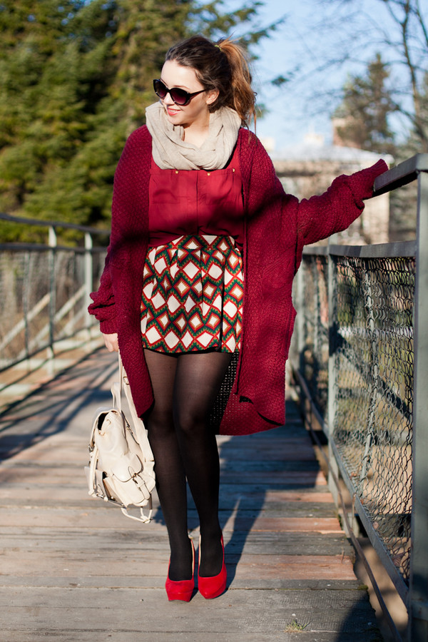 kolorowa dusza sweater skirt shirt sunglasses shoes