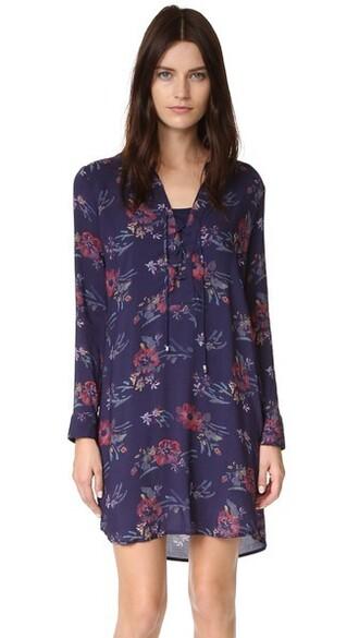 dress shirt dress lace navy