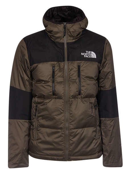 The North Face Logo Padded Jacket in black / brown