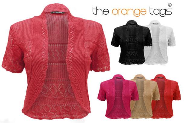 Cardigan: crochet, bolero, knitted bolero, crochet bolero, cute ...