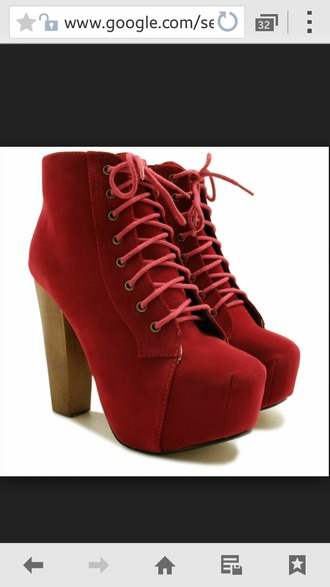 shoes platform shoes platform lace up boots booties heels red platforms jeffrey campbell lita red heels fall shoes