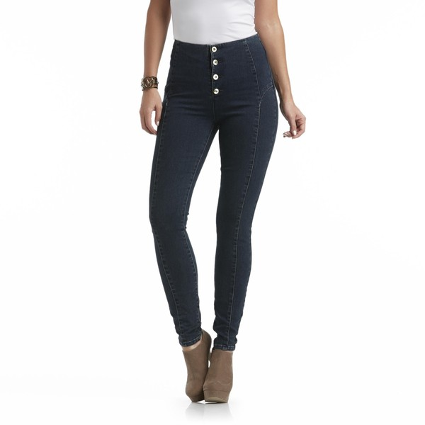 jeans high waisted jeans denim shoes nicki minaj high waisted jeans jewels jewelry pants pants bodysuit