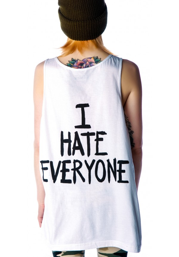 Jac Vanek I Hate Everyone Favorite Unisex Tank Top | Dolls Kill