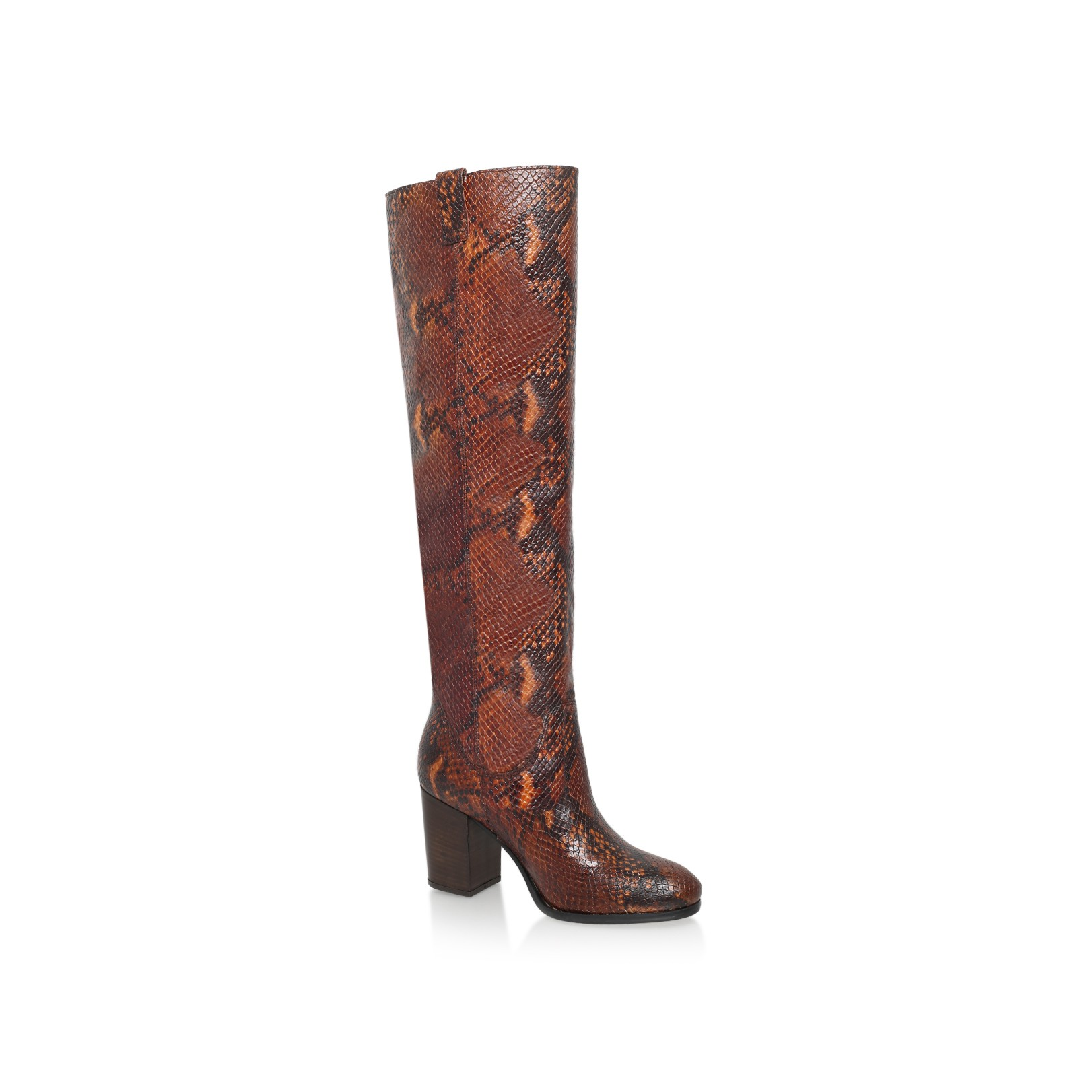 Brown Mid Heel Over The Knee Boots by Carvela Kurt Geiger | Kurt ...