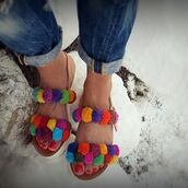 shoes,marbe unique,pom pom sandal,boho sandal,boho chic,leather sandal,white rubber sole sandal,sandal shoes,flats,marbe lovers,marbenitas,greek sandal,shoebox,ancient alabaster statue