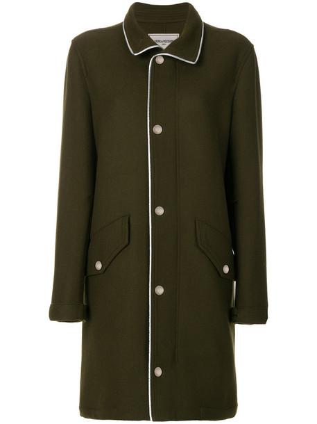 Zadig & Voltaire coat women wool green