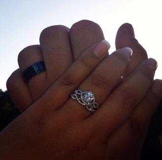 jewels ring engagement ring beautiful diamond ring love