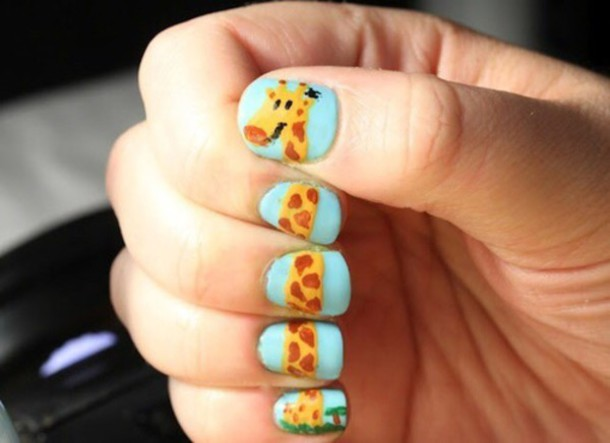 Nail Polish Nail Art Giraffe Wheretoget